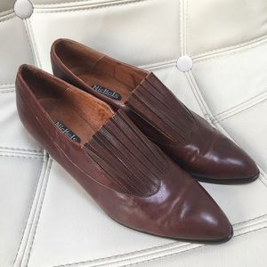 Vintage Nickels Stylish Leather Brown Dress Shoes